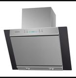 Кухонная вытяжка наклонная  MAUNFELD Gloria 60 нержавеющая сталь\черное стекло