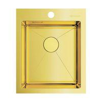 Мойка из нержавеющей стали Omoikiri Akisame 41-LG нерж.сталь/светлое золото