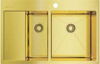 Мойка из нержавеющей стали Omoikiri Akisame 78-2-LG-R нерж.сталь/светлое золото