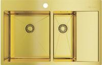Мойка из нержавеющей стали Omoikiri Akisame 78-2-LG-L нерж.сталь/светлое золото