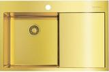 Мойка из нержавеющей стали Omoikiri Akisame 78-LG-L нерж.сталь/светлое золото