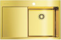 Мойка из нержавеющей стали Omoikiri Akisame 78-LG-R нерж.сталь/светлое золото