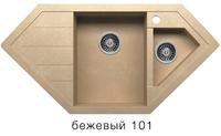 Мойка кварцевая Polygran Tolero R-114be